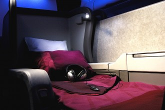 Qatar Airways First Class - Bed